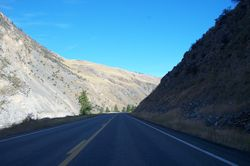 Towards Riggins, Idaho