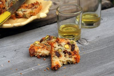 Chorizo and Pistachio Cake