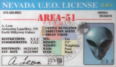 AREA_51_Nevada_UFO_License_front
