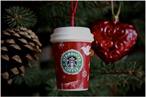Coffee Christmas Tree Ornaments.Christmas Coffee Cute Ornament Starbucks Tree Favim Com 65779