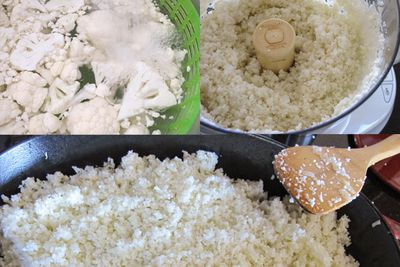 Cauliflower-rice-steps