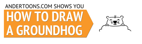 How to draw a ground hog!
