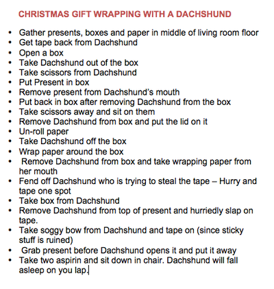 Gift Wrapping with a Dachshund